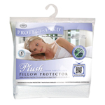Protect-A-Bed Plush Pillow Protector Queen Plush Pillow Protector