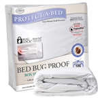 """Protect-A-Bed Bed Bug Proof Box Encasement, The Protect-A-Bed&reg Bed Bug Proof Box Encasement is designed to provide ultimate protection against allergens and bed bugs when combined with an AllerZip&reg mattress cover"