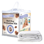 """Protect-A-Bed Buglock Protection Package Queen Size Brand New Includes 5 Year Warranty, The Protect-A-Bed&reg Buglock Protection Pack protects the mattress using AllerZip&reg bed bug protection kit"