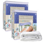 Protect-A-Bed Luxury Mattress Protector Twin (2 Pack) Luxury Mattress